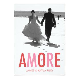 311 AMORE Newlywed Photo Valentine 13 Cm X 18 Cm Invitation Card
