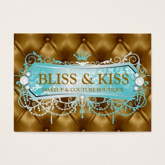 311 Aqua Bliss Golden Tuft Business Card