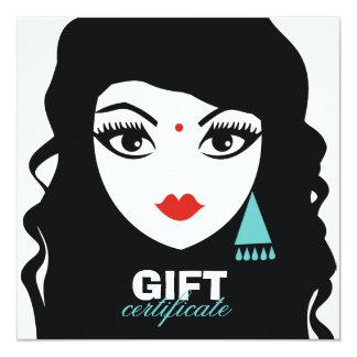 311 Beautiful Bindi | Gift Certificate 13 Cm X 13 Cm Square Invitation Card
