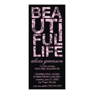 311 Beautiful Life Cancer Free Party 10 Cm X 24 Cm Invitation Card