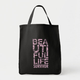 311 Beautiful Life Cancer Survivor Grocery Tote Bag