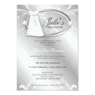 311-Bella Wedding Shower 13 Cm X 18 Cm Invitation Card