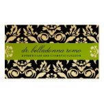 311 Belladonna Damask Golden Lime Pack Of Standard Business Cards
