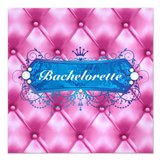 311 Blue Bliss Pink Tuft Personalized Invites