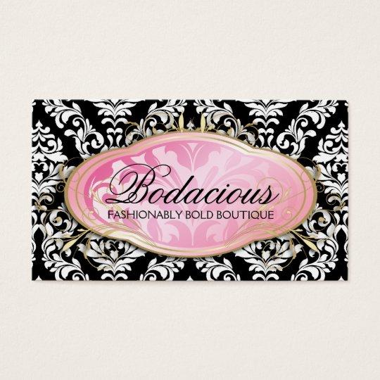 311 Bodacious Boutique Black Business Card