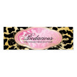 311 Bodacious Boutique Golden Leopard Hang Tag Pack Of Skinny Business Cards