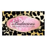 311 Bodacious Boutique Golden Leopard Spots Pack Of Standard Business Cards
