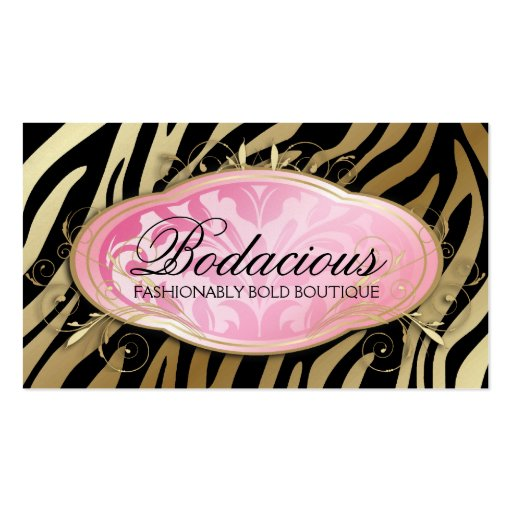 311 bodacious boutique zebra iridescent pearl double sided for Iridescent business cards