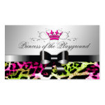 311 Bow-licious Hot Lime Pink Leopard Pack Of Standard Business Cards