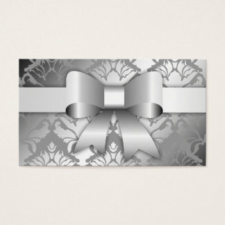 311-Bow-licious Silver Christmas Hang Tag Business Card