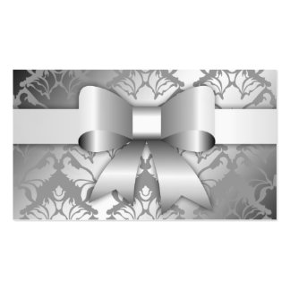 311-Bow-licious Silver Christmas Hang Tag Pack Of Standard Business Cards