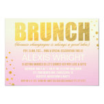 311 Brunch Because Champagne Pink Ombre 5x7 Paper Invitation Card
