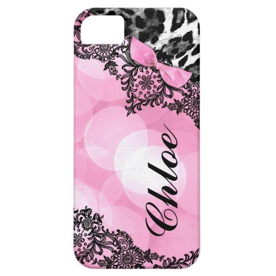 311 Bubblegum Pink Leopard Dream Lights faux bow iPhone 5 Cover
