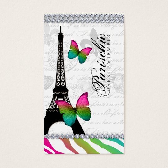 311 Butterfly Business Card Paris Eiffel Tower