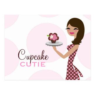 311 Candie Cupcake Cutie Wavy Brunette Postcard