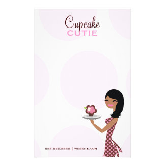 311 Candie the Cupcake Cutie Wavy Ethnic Personalized Stationery