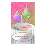 311 Candy Caterer Purple Lollipop Fade Business Card