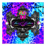 311 Candy Wonderland Leopard Sweet 16 13 Cm X 13 Cm Square Invitation Card