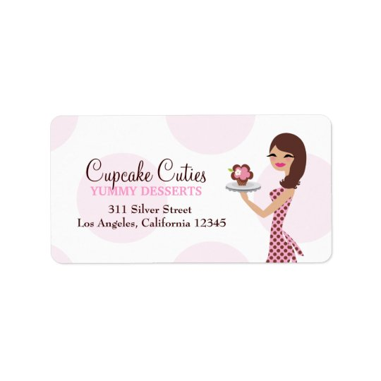311 Carlie the Cupcake Cutie Address Label