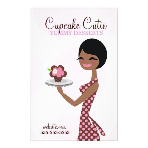 311 Carmella Cupcake Cutie Brunette Flyer Design