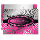 311-C'est Luxueux | Hot  Pink Zebra | Sweet 16 Card