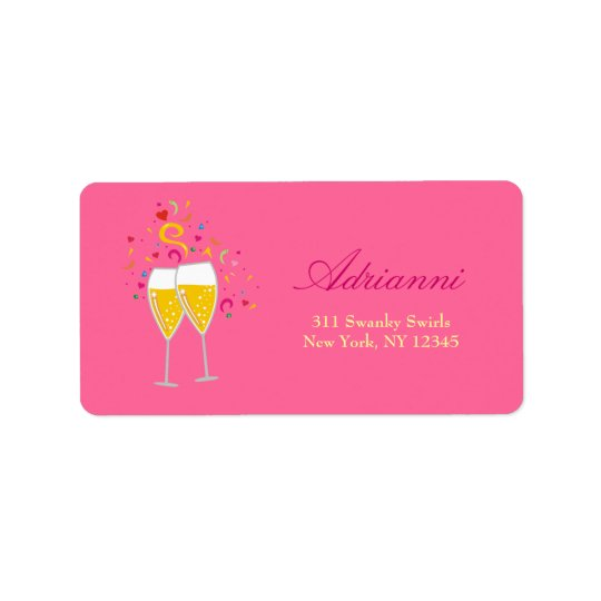 311-Champagne Toast Address Labels