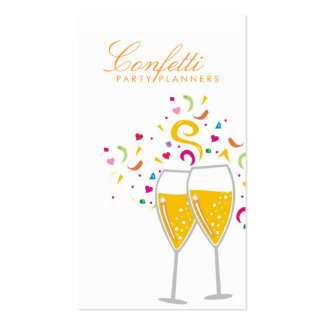 311-Champagne Toast Business Card Template