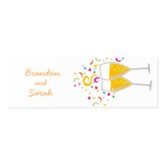 311-Champagne Toast Couples / Name Tag Business Card