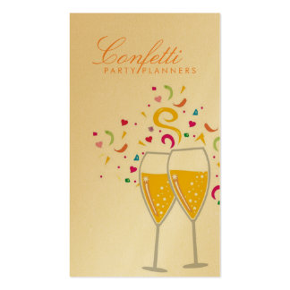 311-Champagne Toast Gold Card Business Card Templates