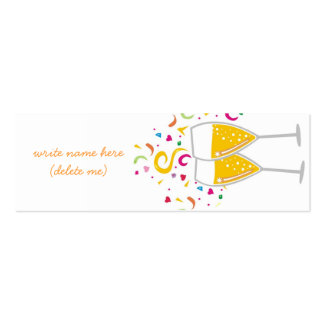 311-Champagne Toast Name / Place Card Business Card