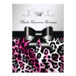 311 Chic Hot Pink Leopard Bow Metallic
