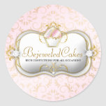 311 Ciao Bella Bejeweled Cakes | Pink Background Round Sticker