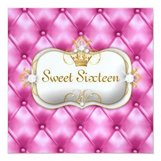 311 Ciao Bella Bliss Pink Tuft 13 Cm X 13 Cm Square Invitation Card