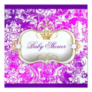 """311 Ciao Bella """"Electric Raspberry"""" Vintage Chic 13 Cm X 13 Cm Square Invitation Card"""