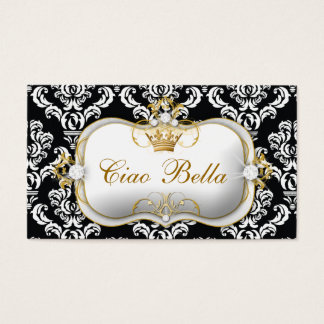 311 Ciao Bella Elegant Damask Business Card