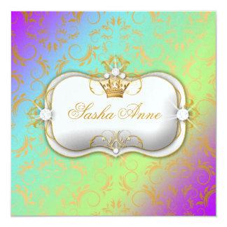 311 Ciao Bella Golden Amethyst Rainbow Kiss 13 Cm X 13 Cm Square Invitation Card