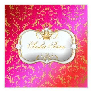 311 Ciao Bella Golden Cherry Cake Kiss 13 Cm X 13 Cm Square Invitation Card