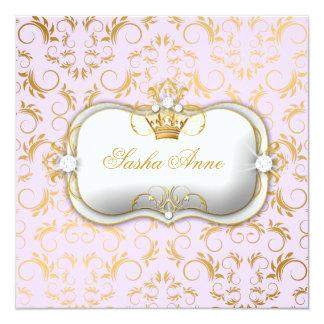 311 Ciao Bella Golden Divine Lilac 13 Cm X 13 Cm Square Invitation Card