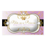 311-Ciao Bella Golden Divine Purple Business Card Template