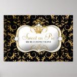 311-Ciao Bella Golden Divine Rich Black Canvas Posters
