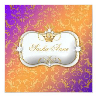 311 Ciao Bella Golden Warm Sun Burst 13 Cm X 13 Cm Square Invitation Card