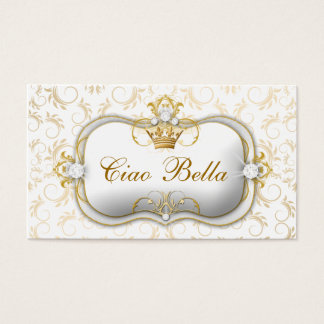 311 Ciao Bella Golden White Divine Business Card