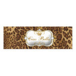 311-Ciao Bella Leopard Pack Of Skinny Business Cards