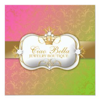 311-Ciao Bella Lollipop | Gift Certificate 13 Cm X 13 Cm Square Invitation Card
