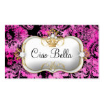 311 Ciao Bella Pink Liquorice Vintage Chic Business Card Templates