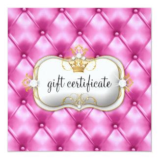 311 Ciao Bella Pink Tuft Gift Certificate 13 Cm X 13 Cm Square Invitation Card