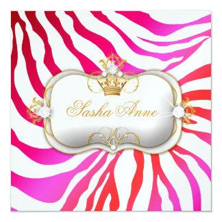 311 Ciao Bella Zebra Cherry Cake Kiss 13 Cm X 13 Cm Square Invitation Card