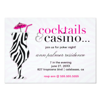 311 Cocktails & Casino Zebra Card