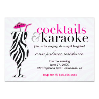 311 Cocktails & Karaoke Zebra Card