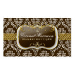 311-Coconut Macaroon Damask Business Cards